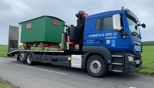 Haulage contract for Woodbine Stables